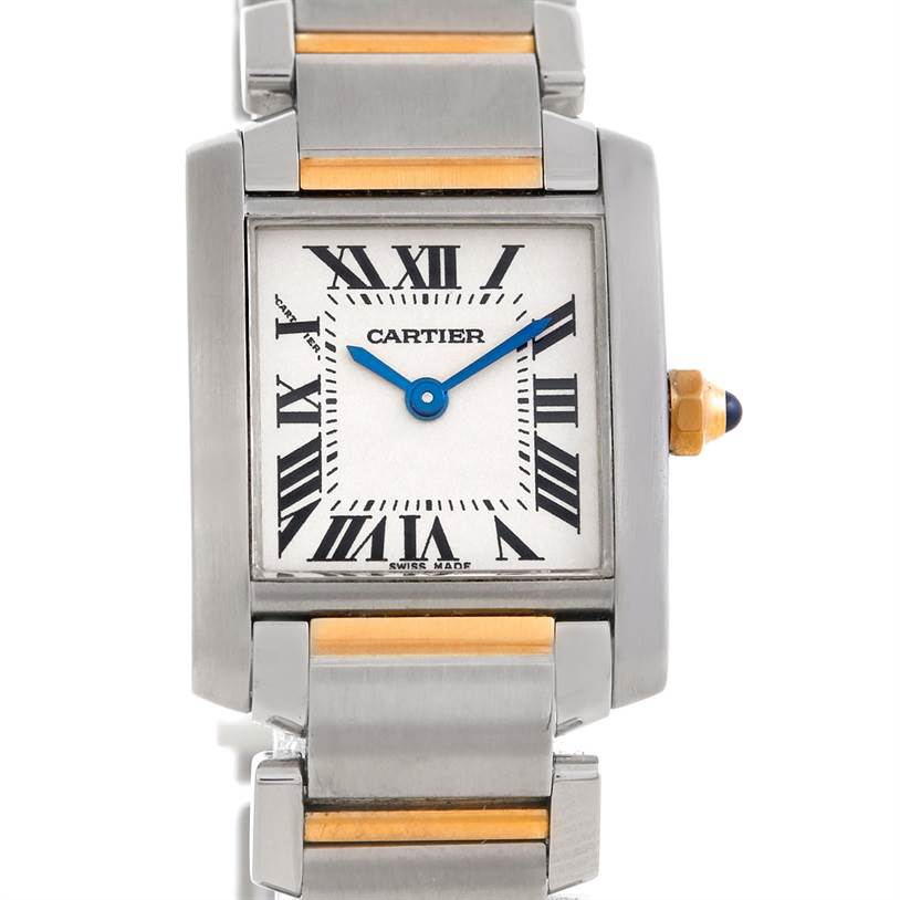 6227 Cartier Tank Francaise Ladies Steel 18k Gold Watch W51007Q4 SwissWatchExpo