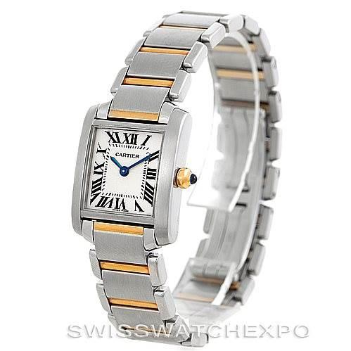 6246 Cartier Tank Francaise Ladies Steel 18k Gold Watch W51007Q4 SwissWatchExpo