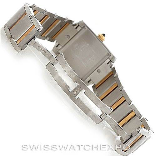 6309 Cartier Tank Francaise Midsize Steel 18k Gold W51012Q4 SwissWatchExpo