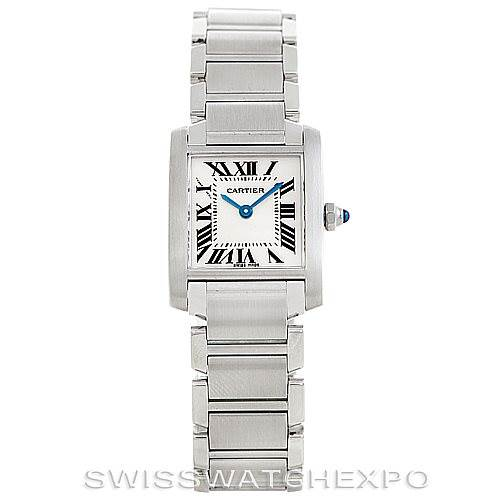 6270 Cartier Tank Francaise Ladies Stainless Steel Watch W51008Q3 SwissWatchExpo