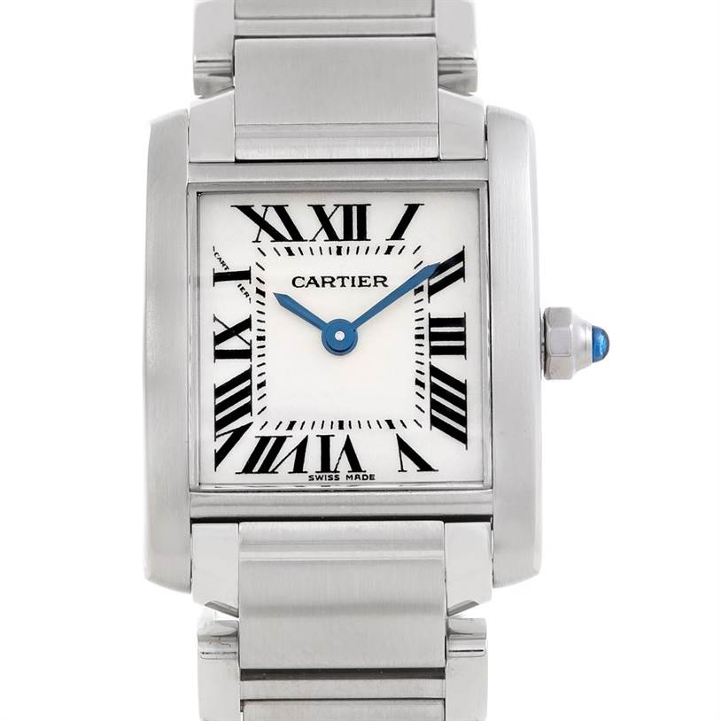6333 Cartier Tank Francaise Ladies Stainless Steel Watch W51008Q3 SwissWatchExpo