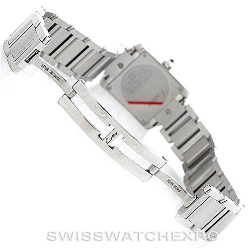 6336 Cartier Tank Francaise Pink Mother of Pearl Watch W51028Q3 SwissWatchExpo