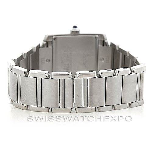 5899 Cartier Tank Francaise Midsize Stainless Steel Watch W51011Q3 SwissWatchExpo
