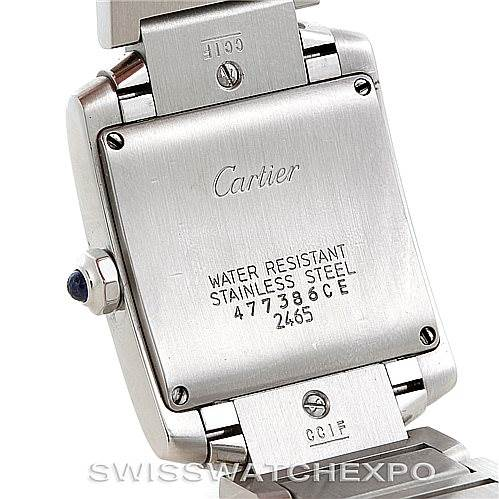 6245 Cartier Tank Francaise W51011Q3 Midsize Stainless Steel Watch SwissWatchExpo