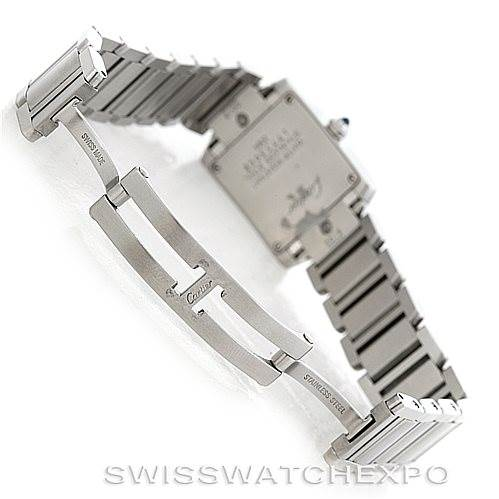 6425 Cartier Tank Francaise Ladies Stainless Steel Watch W51008Q3 SwissWatchExpo
