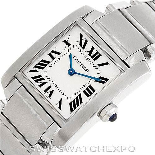 6426  Cartier Tank Francaise Midsize Stainless Steel Watch WSTA0005 SwissWatchExpo