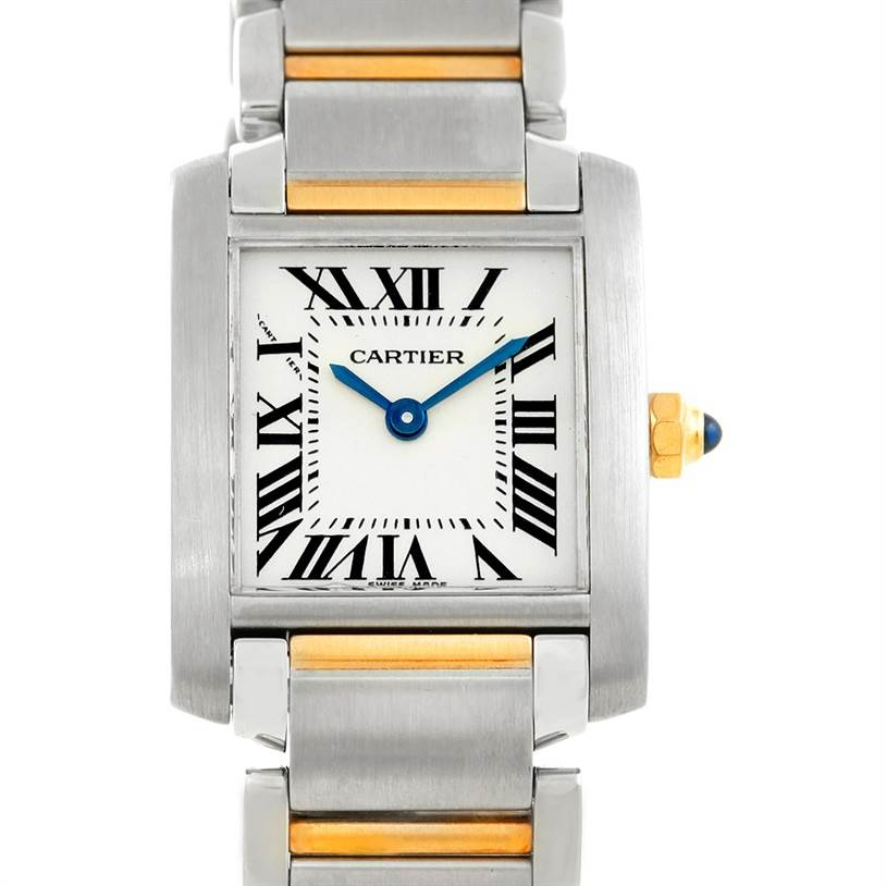 6477 Cartier Tank Francaise Small Steel 18k Gold Watch W51007Q4 SwissWatchExpo