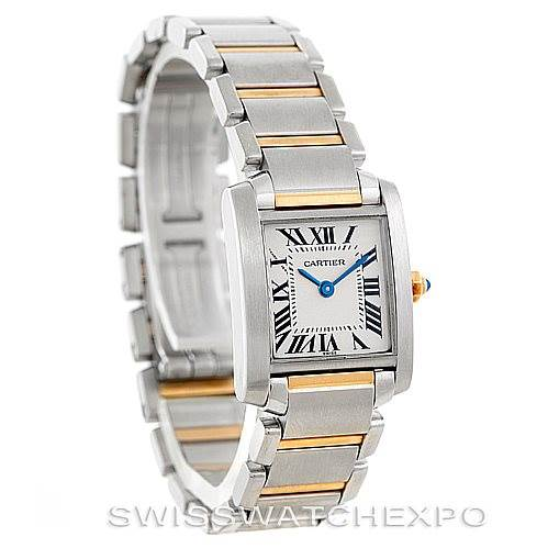 6218 Cartier Tank Francaise Small Steel 18k Gold Watch W51007Q4 SwissWatchExpo