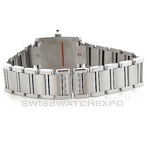 6442 Cartier Tank Francaise Ladies Stainless Steel Watch W51008Q3 SwissWatchExpo