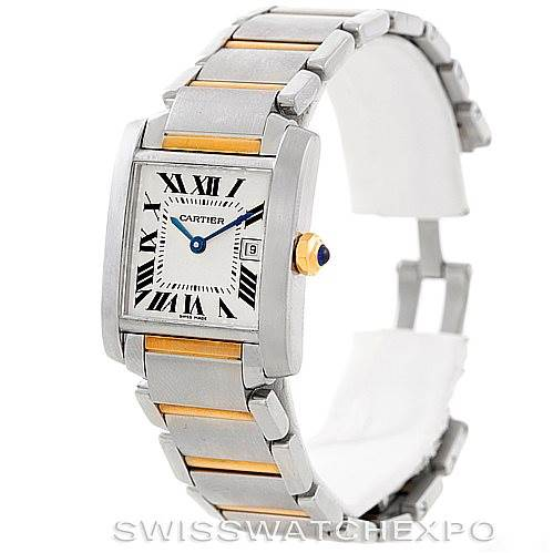 6609 Cartier Tank Francaise Midsize Steel 18k Gold W51012Q4 SwissWatchExpo