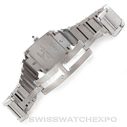 6428 Cartier Tank Francaise Ladies Stainless Steel Watch W51008Q3 SwissWatchExpo