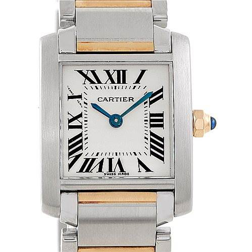 6821 Cartier Tank Francaise Small Steel 18k Gold Watch W51007Q4 SwissWatchExpo