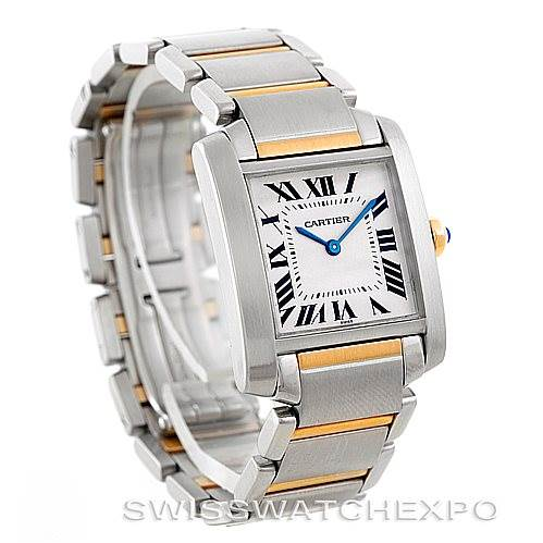 6818 Cartier Tank Francaise Midsize Steel 18k Gold Watch SwissWatchExpo