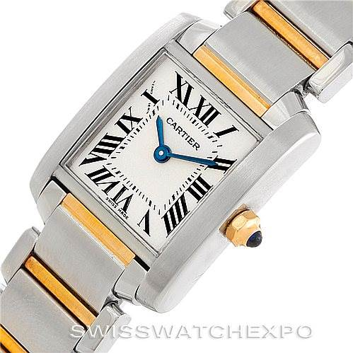 6626 Cartier Tank Francaise Small Steel 18k Gold Watch W51007Q4 SwissWatchExpo