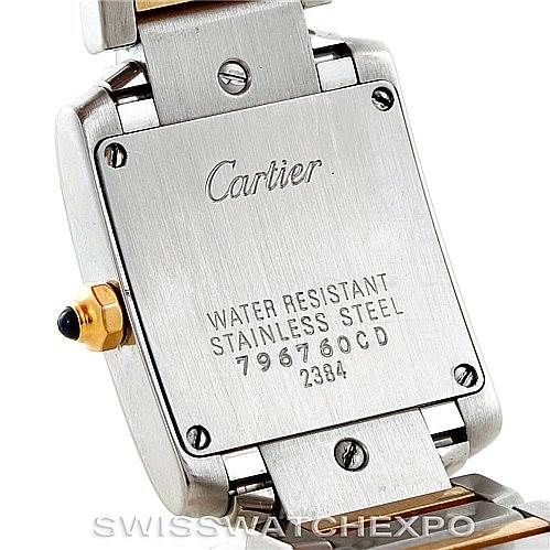 6608 Cartier Tank Francaise Small Steel 18k Gold Watch W51007Q4 SwissWatchExpo