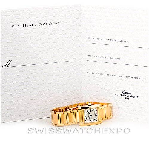 6891 Cartier Tank Francaise Midsize 18K Yellow Gold Watch W50003N2 SwissWatchExpo