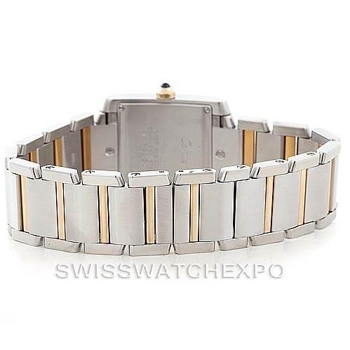 7028 Cartier Tank Francaise Midsize Steel 18k Gold W51012Q4 SwissWatchExpo