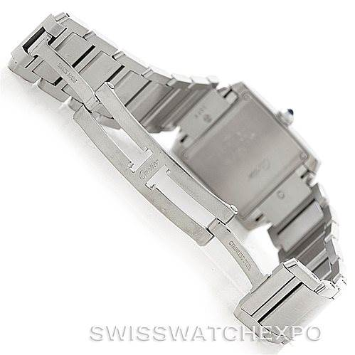 6518 Cartier Tank Francaise Midsize Stainless Steel Watch W51011Q3 SwissWatchExpo