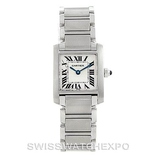 7217 Cartier Tank Francaise Ladies Stainless Steel Watch W51008Q3 SwissWatchExpo