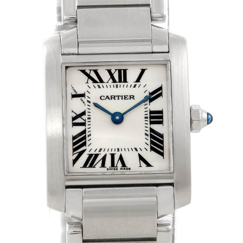 7249 Cartier Tank Francaise Ladies Stainless Steel Watch W51008Q3 SwissWatchExpo