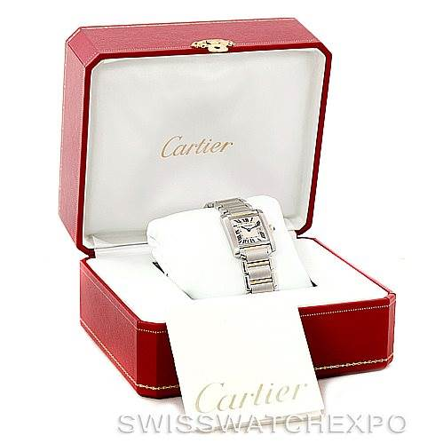 7309 Cartier Tank Francaise Midsize Steel 18k Gold Watch W51012Q4 SwissWatchExpo