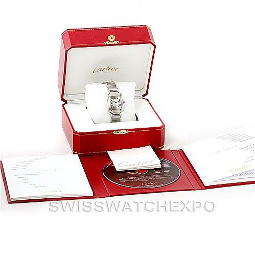 7361 Cartier Tank Francaise Midsize Stainless Steel Watch W51011Q3 SwissWatchExpo