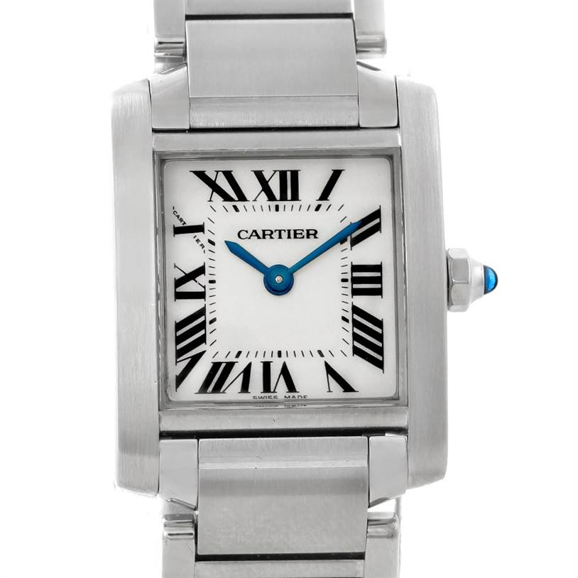 7600 Cartier Tank Francaise Ladies Stainless Steel Watch W51008Q3 SwissWatchExpo