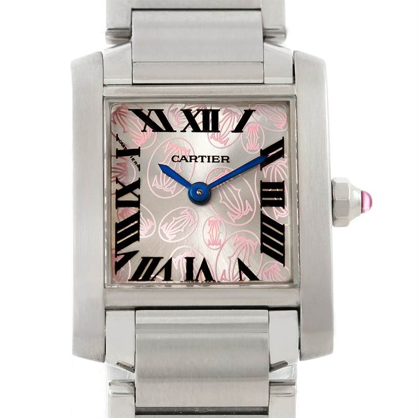 7610 Cartier Tank Francaise Ladies Steel Limited Edition Watch W51031Q3 SwissWatchExpo
