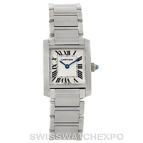 6516 Cartier Tank Francaise Ladies Stainless Steel Watch W51008Q3 SwissWatchExpo