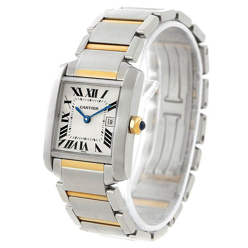 7670 Cartier Tank Francaise Midsize Steel 18k Gold Watch W51012Q4 SwissWatchExpo