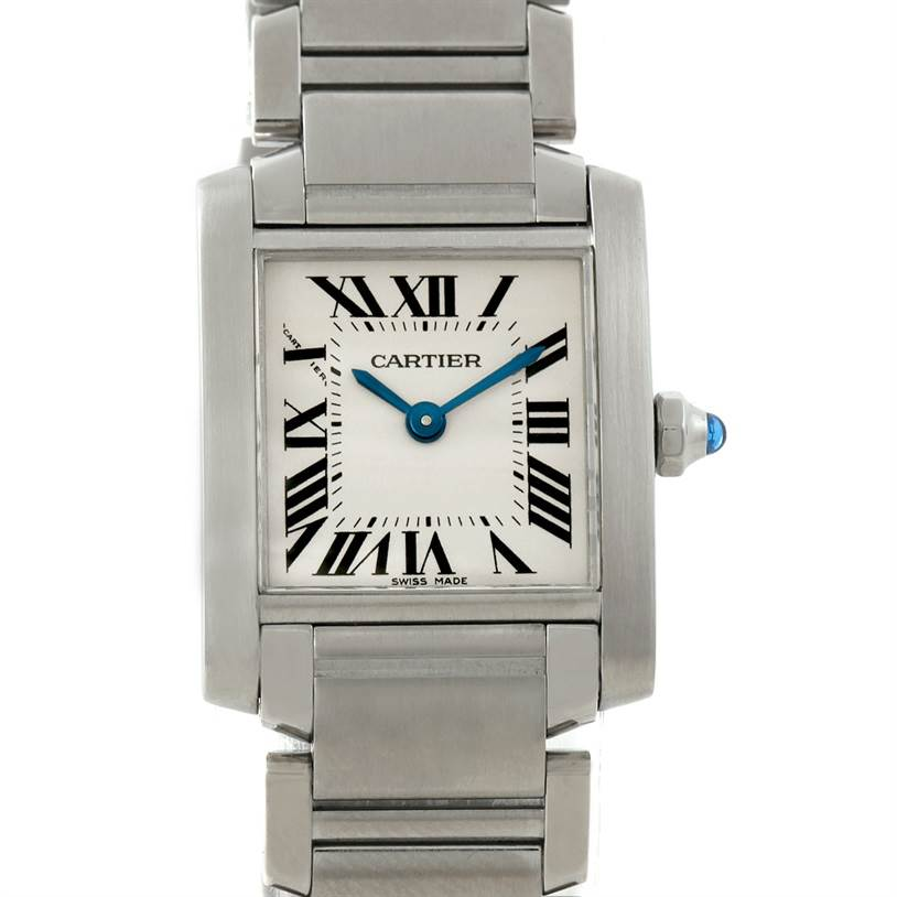 7867 Cartier Tank Francaise Small Stainless Steel Watch W51008Q3 SwissWatchExpo