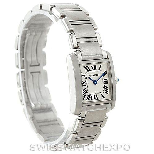 6866 Cartier Tank Francaise Small Stainless Steel Watch W51008Q3 SwissWatchExpo