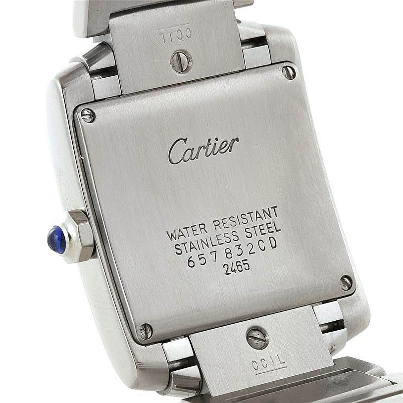 7677 Cartier Tank Francaise Midsize Stainless Steel Watch W51011Q3 SwissWatchExpo
