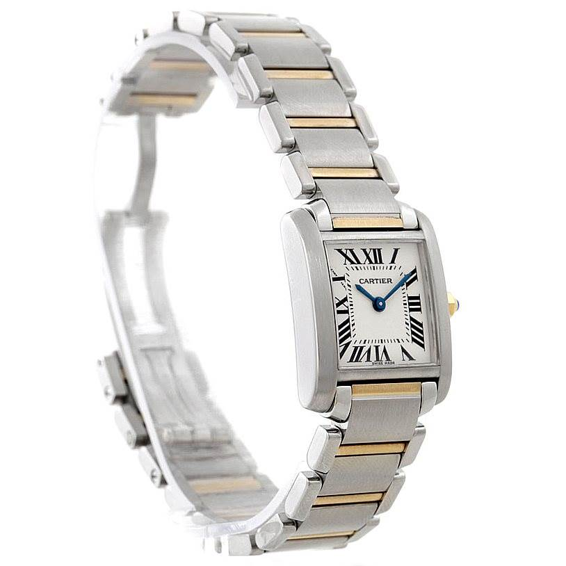 7864 Cartier Tank Francaise Small Steel 18k Gold Watch W51007Q4 SwissWatchExpo