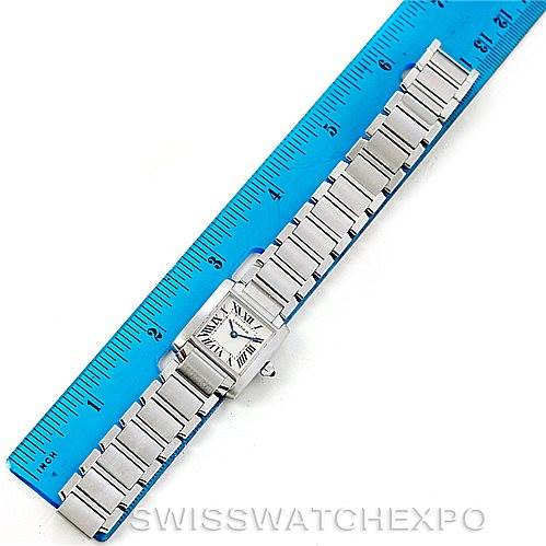 8078 Cartier Tank Francaise Small Stainless Steel Watch W51008Q3 SwissWatchExpo