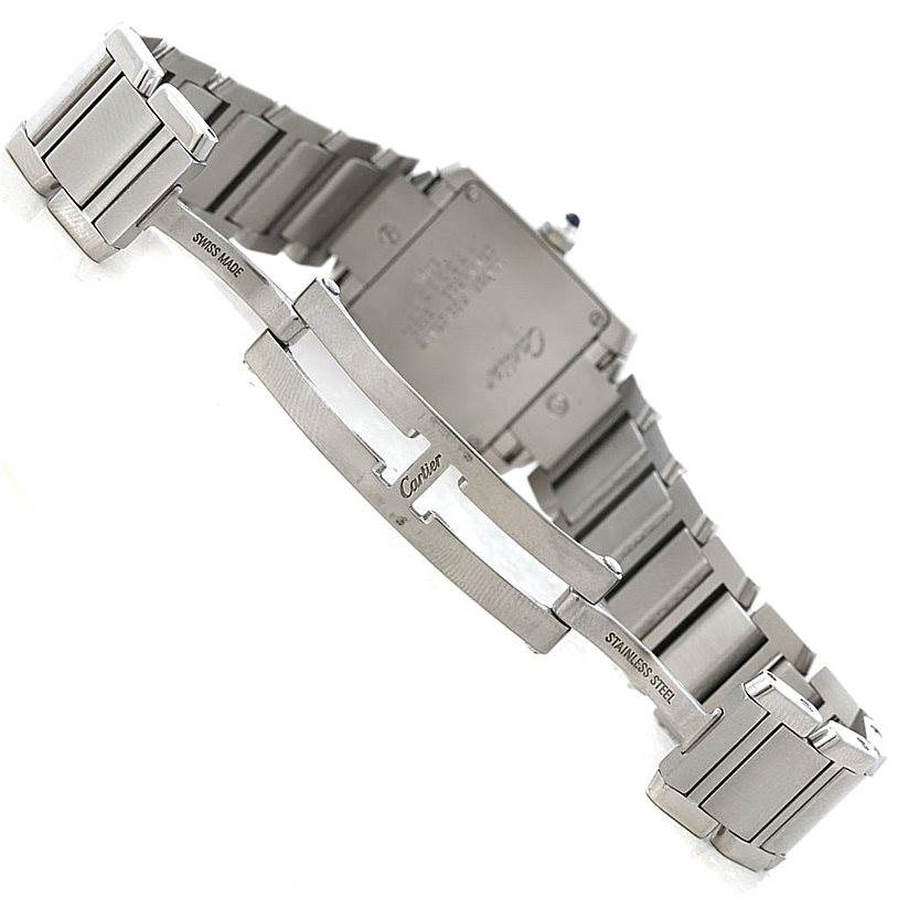 7997 Cartier Tank Francaise Small Stainless Steel Watch W51008Q3 SwissWatchExpo
