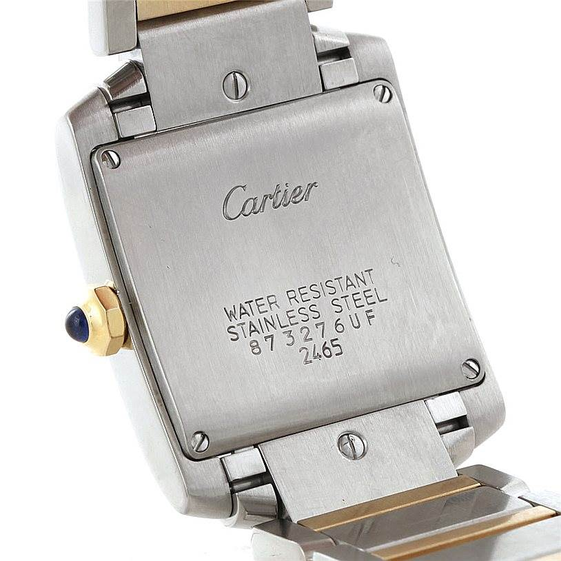 6547 Cartier Tank Francaise Midsize Steel 18k Gold Watch W51012Q4 SwissWatchExpo