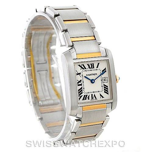 8105 Cartier Tank Francaise Midsize Steel 18k Gold Watch W51012Q4 SwissWatchExpo