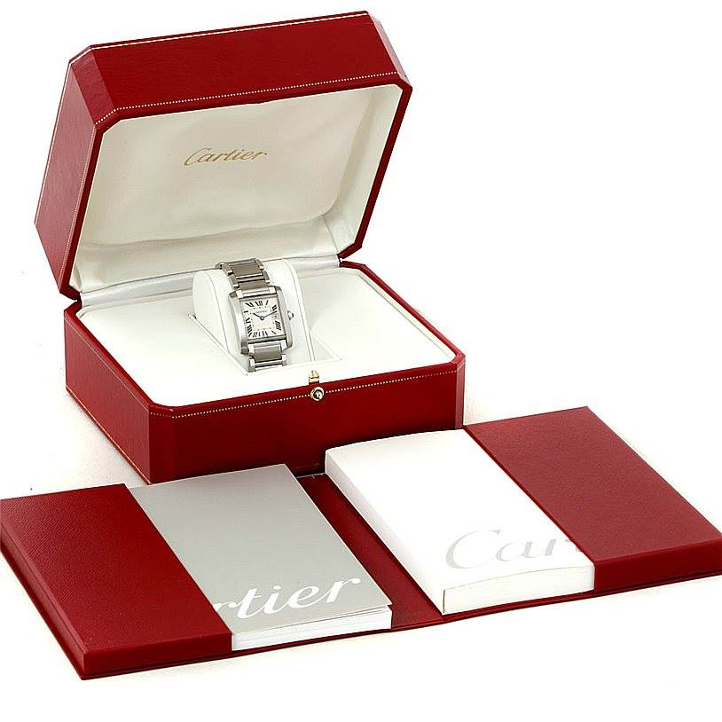 8104 Cartier Tank Francaise Midsize Stainless Steel Watch W51011Q3 SwissWatchExpo