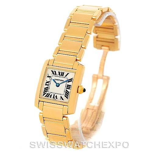 8222 Cartier Tank Francaise Small 18k Yellow Gold Watch W50002N2 SwissWatchExpo