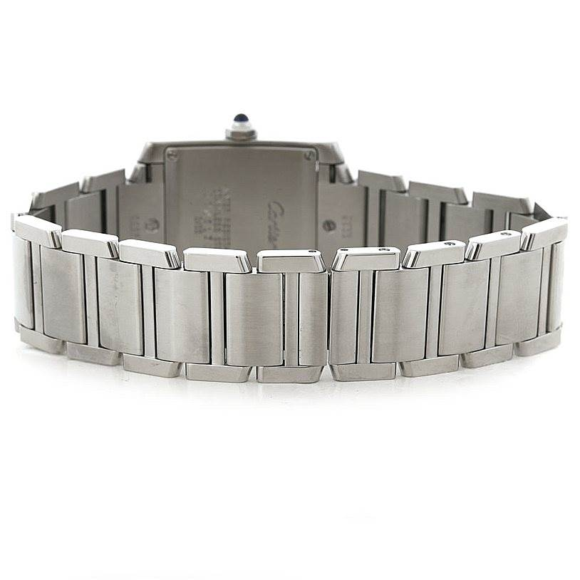 8011 Cartier Tank Francaise Midsize Stainless Steel Watch W51011Q3 SwissWatchExpo