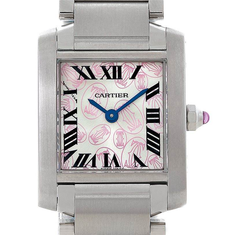 8454 Cartier Tank Francaise Ladies Steel Limited Edition Watch W51031Q3 SwissWatchExpo