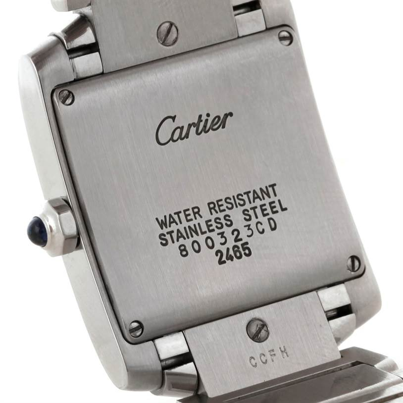 7498 Cartier Tank Francaise Midsize Stainless Steel Watch W51011Q3 SwissWatchExpo