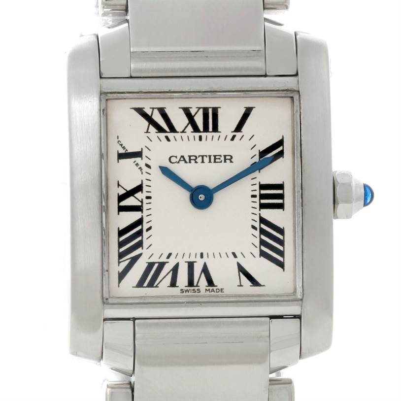 8598 Cartier Tank Francaise Small Stainless Steel Watch W51008Q3 SwissWatchExpo