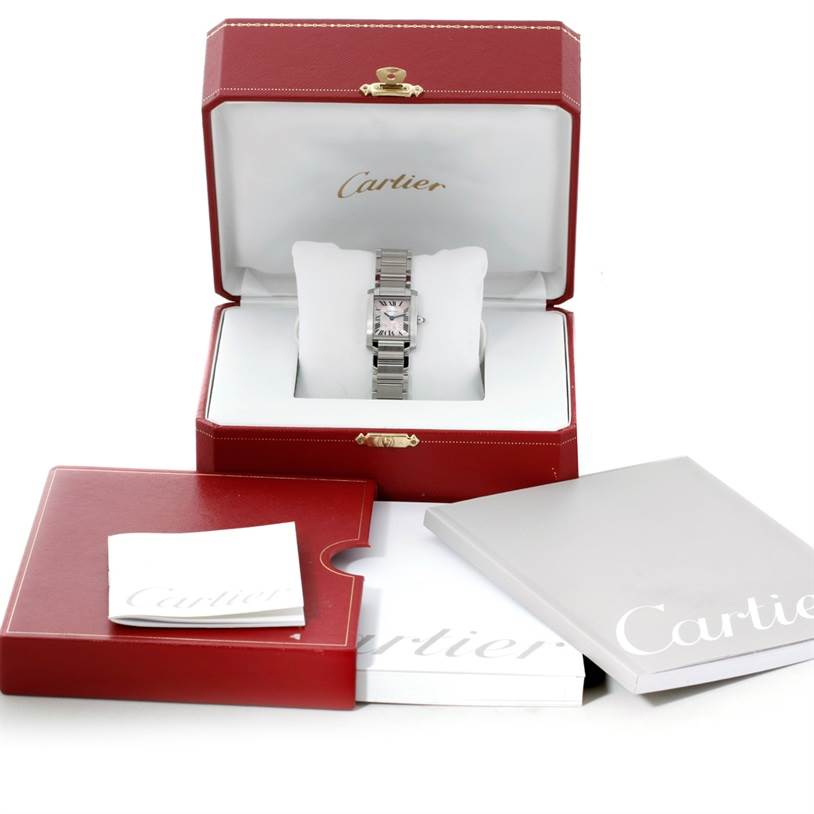 8608 Cartier Tank Francaise Ladies Steel Limited Edition Watch W51031Q3 SwissWatchExpo