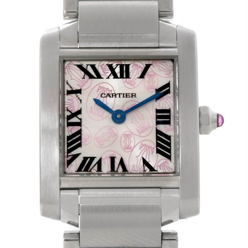 8861 Cartier Tank Francaise Ladies Steel Limited Edition Watch W51031Q3 SwissWatchExpo