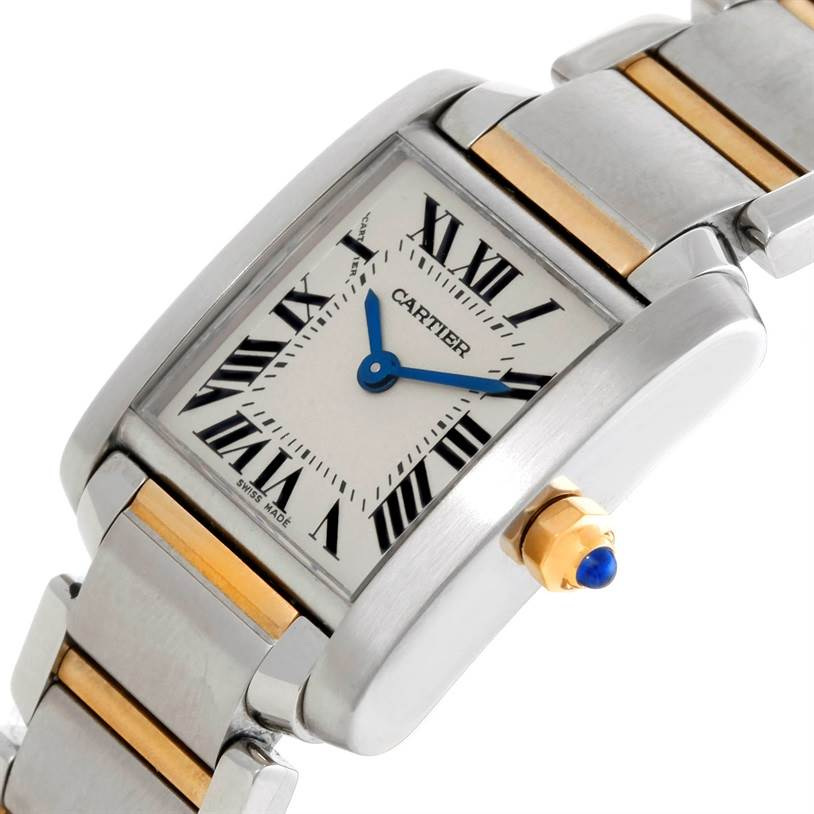 8762 Cartier Tank Francaise Small Steel 18k Gold Watch W51007Q4 SwissWatchExpo