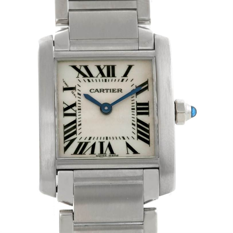 8345 Cartier Tank Francaise Small Stainless Steel Watch W51008Q3 SwissWatchExpo