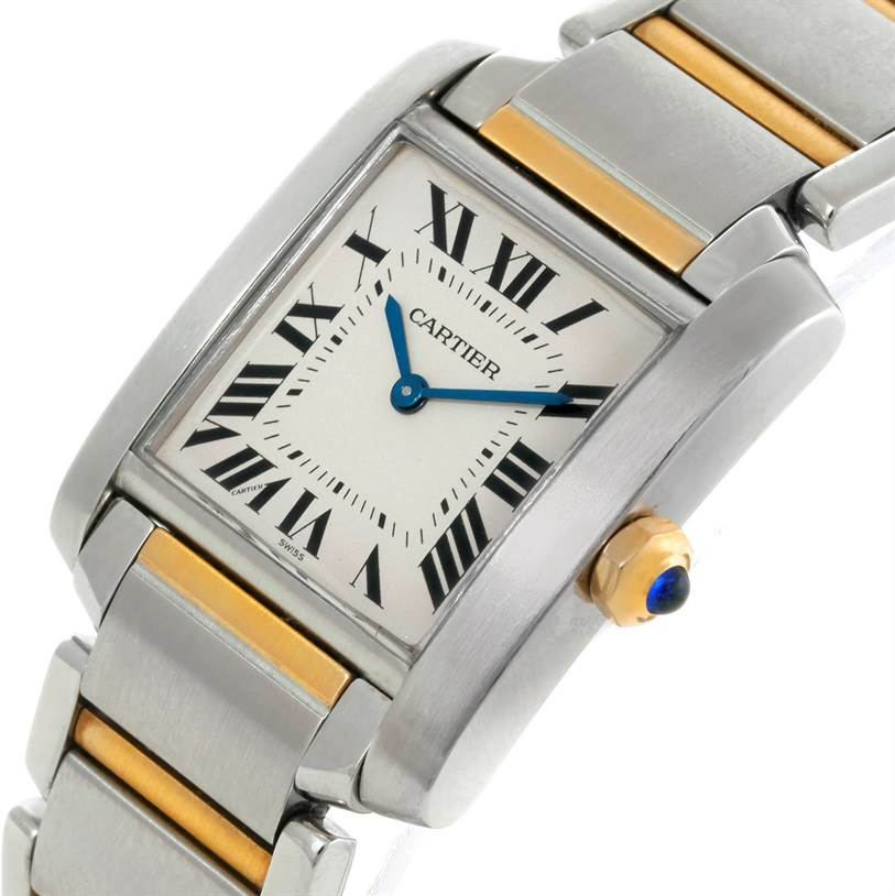 9088 Cartier Tank Francaise Midsize Steel 18k Gold Watch W51006Q4 SwissWatchExpo