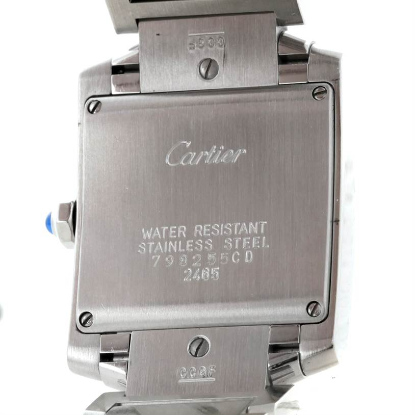 8456 Cartier Tank Francaise Midsize Stainless Steel Watch W51011Q3 SwissWatchExpo